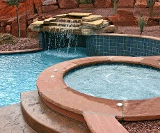 Pool with a Waterfall - Pool Design